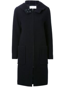 Hooded Zip Coat LE CIEL BLEU                                                                                                              синий цвет