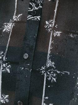 Прозрачная Рубашка С Сетчатым Принтом Y'S                                                                                                              чёрный цвет