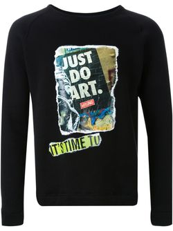 Graffiti Appliqué Sweatshirt FADTHREE                                                                                                              чёрный цвет