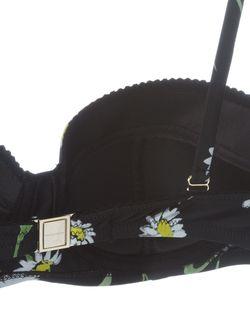 Верх Бикини С Принтом Маргариток Dolce & Gabbana                                                                                                              черный цвет