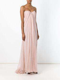 Драпированное Платье-Бюстье Alexander McQueen                                                                                                              розовый цвет