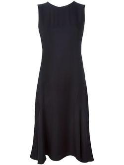 Расклешенное Платье Без Рукавов Theory                                                                                                              черный цвет