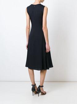 Расклешенное Платье Без Рукавов Theory                                                                                                              чёрный цвет