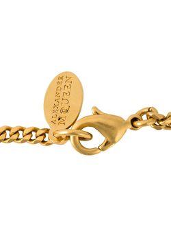 Ожерелье С Кулоном В Форме Бабочки Alexander McQueen                                                                                                              серебристый цвет