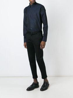 Рубашка С Нагрудником Dolce & Gabbana                                                                                                              синий цвет