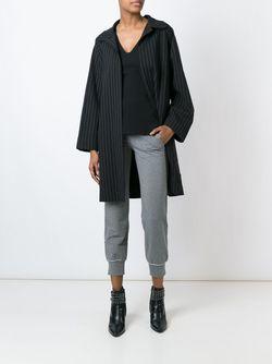 Пальто В Полоску Norma Kamali                                                                                                              черный цвет