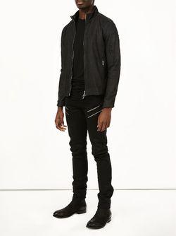 Приталенная Куртка На Молнии Giorgio Brato                                                                                                              черный цвет