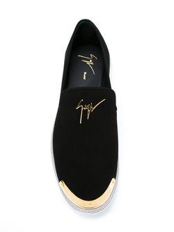 Кеды-Слипон С Контрастным Носком Giuseppe Zanotti Design                                                                                                              чёрный цвет