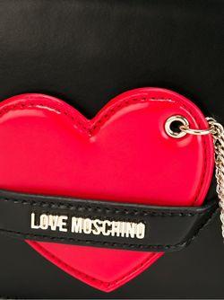Сумка Через Плечо С Аппликацией Сердца Love Moschino                                                                                                              чёрный цвет
