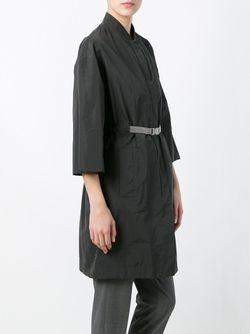 Пальто С Поясом Brunello Cucinelli                                                                                                              серый цвет