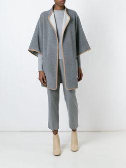 Свободное Пальто-Кейп Akris                                                                                                              серый цвет