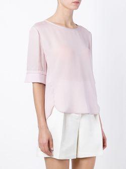Топ С Волнистым Подолом Emporio Armani                                                                                                              розовый цвет