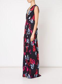 Вечернее Платье С Цветочным Принтом Thakoon                                                                                                              синий цвет