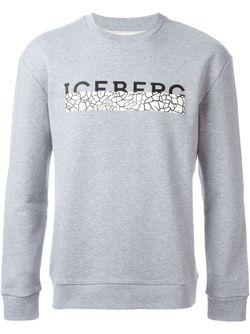Толстовка С Принтом Логотипа ICEBERG                                                                                                              серый цвет