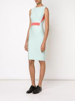 Приталенное Платье Mugler                                                                                                              синий цвет