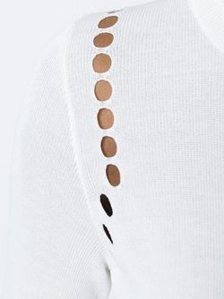 Перфорированный Свитер Rochas                                                                                                              белый цвет