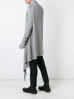 Длинный Драпированный Кардиган LOST AND FOUND                                                                                                              серый цвет