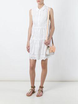 Расклешенное Платье-Рубашка Diane Von Furstenberg                                                                                                              белый цвет