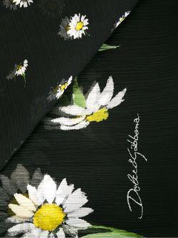 Шарф С Принтом Ромашек Dolce & Gabbana                                                                                                              черный цвет