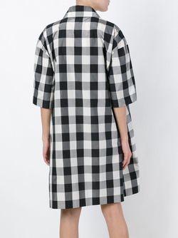 Платье В Клетку Rochas                                                                                                              чёрный цвет