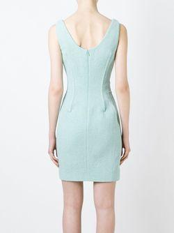 Платье С Вырезом-Ковш Moschino                                                                                                              зелёный цвет