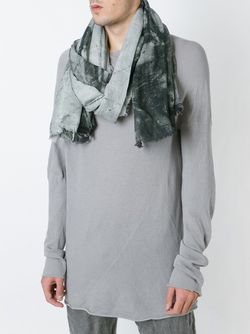 Шарф С Мраморным Принтом LOST AND FOUND                                                                                                              серый цвет