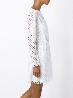 Broderie Anglaise Tie Waist Dress Carven                                                                                                              белый цвет