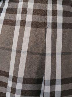 Юбка В Клетку Burberry                                                                                                              коричневый цвет