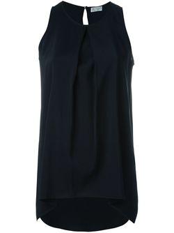 Свободный Топ Со Складками Brunello Cucinelli                                                                                                              синий цвет