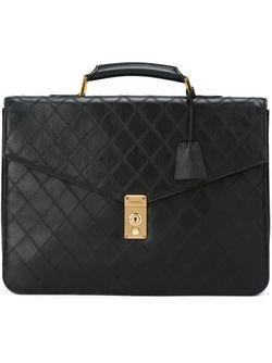 Стеганый Портфель Chanel Vintage                                                                                                              черный цвет
