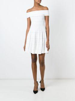 Платье С Приспущенными Плечами Alexander McQueen                                                                                                              белый цвет