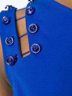 Топ Декорированная Булавками Versus                                                                                                              синий цвет