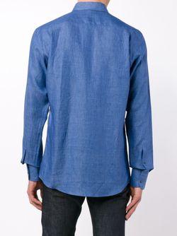 Classic Linen Shirt Dolce & Gabbana                                                                                                              синий цвет