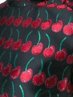 Жаккардовое Платье Red Valentino                                                                                                              чёрный цвет