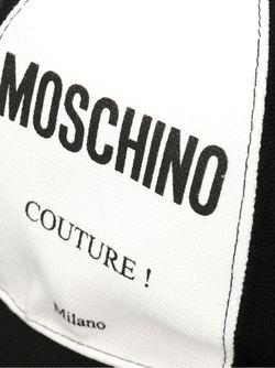 Кепка С Принтом Логотипа Moschino                                                                                                              чёрный цвет
