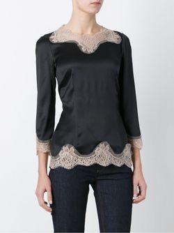 Блузка С Кружевной Отделкой Dolce & Gabbana                                                                                                              чёрный цвет