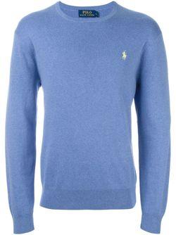 Свитер С Круглым Вырезом Polo Ralph Lauren                                                                                                              синий цвет