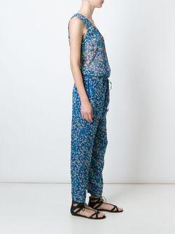 Комбинезон С Цветочным Принтом Isabel Marant Étoile                                                                                                              синий цвет
