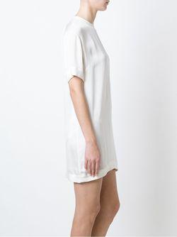 Платье-Шифт С Поясом Dsquared2                                                                                                              белый цвет