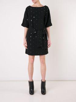 Декорированное Платье С Поясом OSMAN                                                                                                              черный цвет
