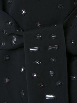 Декорированное Платье С Поясом OSMAN                                                                                                              чёрный цвет