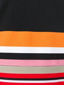Футболка С Контрастным Подолом MSGM                                                                                                              черный цвет