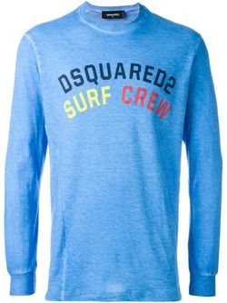 Толстовка Surf Crew Dsquared2                                                                                                              синий цвет