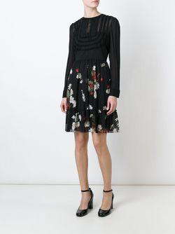 Расклешенное Платье С Принтом Red Valentino                                                                                                              черный цвет