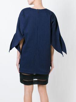Платье Шифт С Контрастным Подолом MSGM                                                                                                              синий цвет