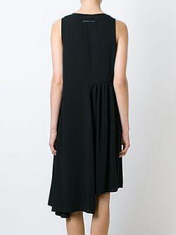 Асимметричное Платье Без Рукавов MM6 by Maison Margiela                                                                                                              черный цвет