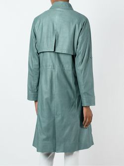Кожаное Пальто Drome                                                                                                              зелёный цвет