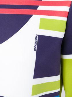 Топ Мешковатого Кроя С Абстрактным Принтом Dsquared2                                                                                                              многоцветный цвет