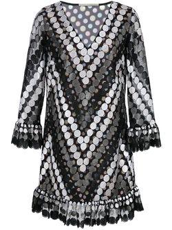 Платье Шифт С Вышивкой Marco De Vincenzo                                                                                                              чёрный цвет