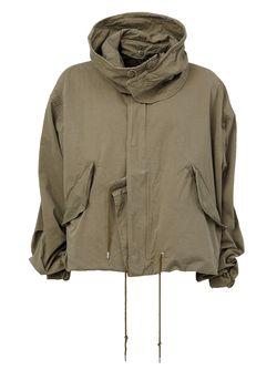Мешковатая Куртка С Капюшоном MIHARA YASUHIRO                                                                                                              зелёный цвет